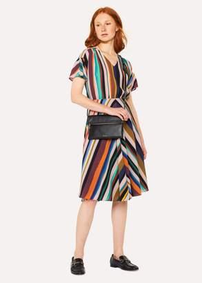Women's V-Neck 'Expressive Stripe' Print Dress