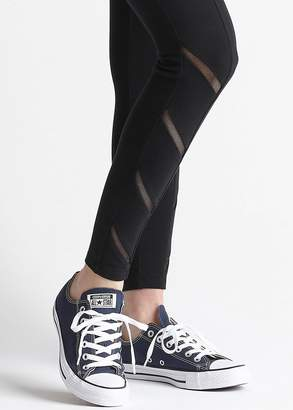 Yummie Signature Waistband Ankle Legging w/Mesh Trim