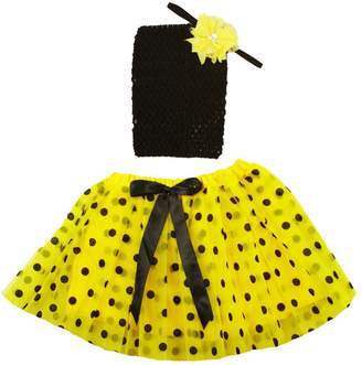 Bumble Bee Dress Up Dreams Boutique Girls Black Polka Dot Tutu Headband Gift Set