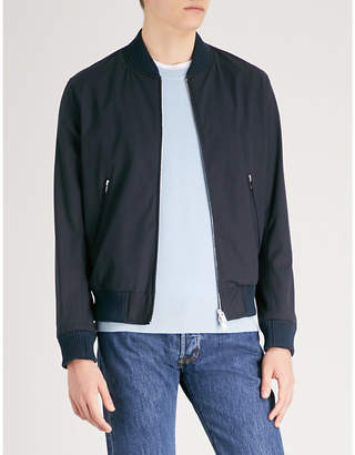 Sandro Stand-collar cotton-blend bomber jacket