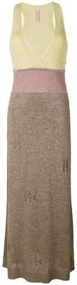 Antonio Marras lurex distressed knitted dress