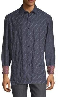 Robert Graham Printed Linen Button-Down Shirt
