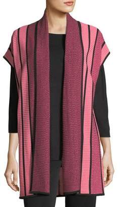 Misook Striped Cardigan