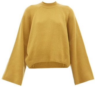 Petar Petrov Kleio Cropped Cashmere Sweater - Womens - Dark Yellow