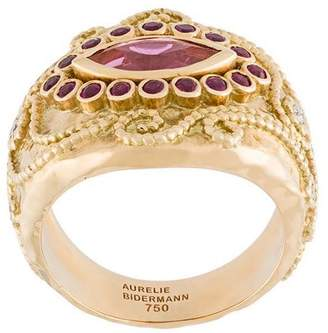 Aurelie Bidermann 'Cashmere' rubellite, diamond and ruby ring