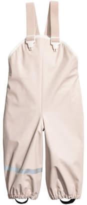 H&M Rain Pants with Suspenders - Brown