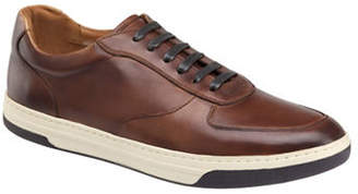 Johnston & Murphy Fenton U-Throat Leather Oxford Sneakers