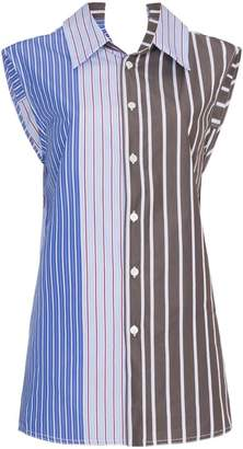 Marni Striped sleeveless blouse