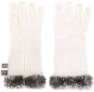 N.Peal trimmed gloves