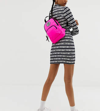 Hype exclusive one shoulder backpack in pink neon