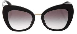 Dolce & Gabbana Cat-Eye Logo Sunglasses