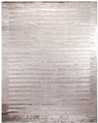 Exquisite Rugs Wide Stripes Hand-Loomed Rug
