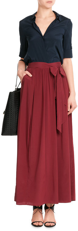 DKNY DKNY Silk Wrap Maxi Skirt