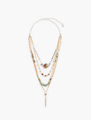 Lucky Brand LAYER BEAD CHAIN NECKLACE