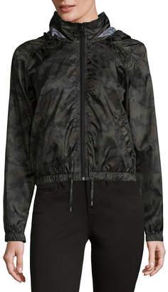 REWIND Rewind Hooded Lightweight Camouflage Softshell Jacket-Juniors