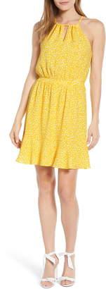 Gibson x Living in Yellow Calla Keyhole Halter Neck Dress