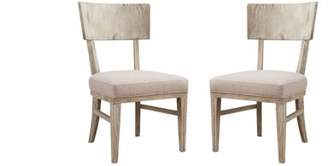 Emerald Home Synchrony Pearl Upholstered Dining Chair with Rounded Back, Set of Two