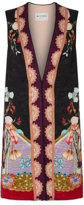 Etro Floral Jacquard Long Gilet