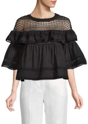 Lumie Ruffled Cotton Top