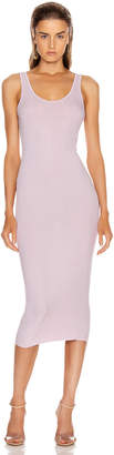 Enza Costa Rib Tank Midi Dress in Pink Crystals | FWRD