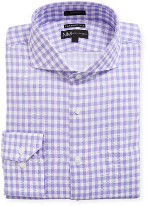Neiman Marcus Classic Fit Dobby Check Dress Shirt