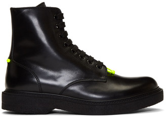 Neil Barrett Black Pierced Punk Boots
