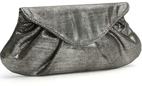Lauren Merkin, Embossed suede clutch