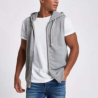 River Island Jack and Jones Originals grey sleeveless hoodie