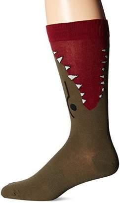 K. Bell Socks Men's Wide Mouth Novelty Crew Socks