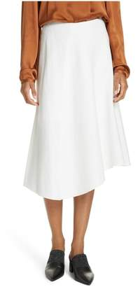 Vince Asymmetric Hem Linen & Cotton Skirt
