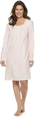 Croft & Barrow Women's Henley Nightgown