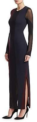 Gentry Portofino Women's Long-Sleeve Stripe Inset Maxi Dress