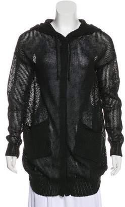 Tess Giberson Linen Hooded Sweater