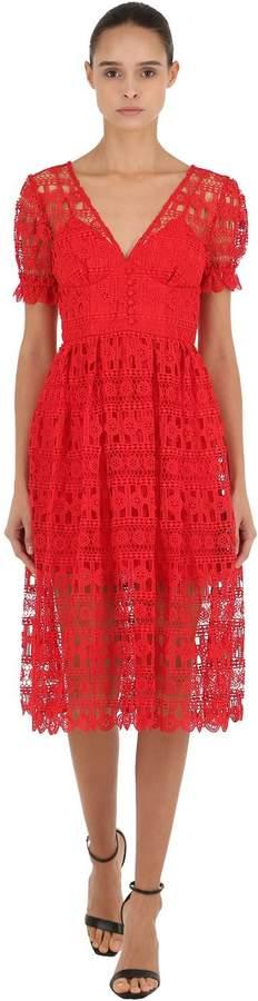 Tech Lace Midi Dress