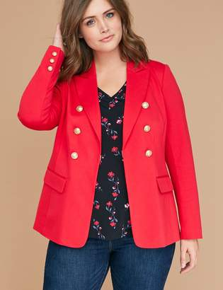 Lane Bryant Bryant Blazer - Faux Double Breasted Ponte