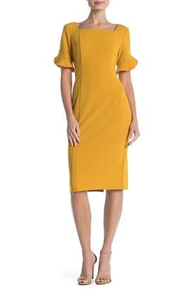 Donna Morgan Ruffle Sleeve Sheath Dress