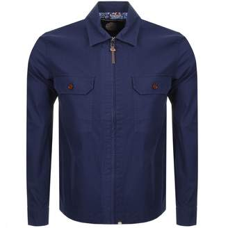 Pretty Green Overshirt Jacket Blue