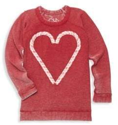 Chaser Little Girl's& Big Girl's Candy Heart Sweatshirt