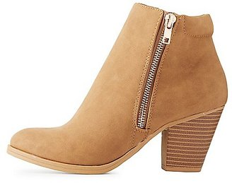 Side Zip Ankle Booties $34.99 thestylecure.com