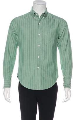 Band Of Outsiders Striped Woven Shirt