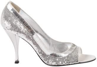 Sergio Rossi Silver Glitter Heels