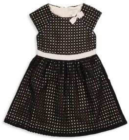 Little Girl's Roundneck Perforated Dress $118 thestylecure.com