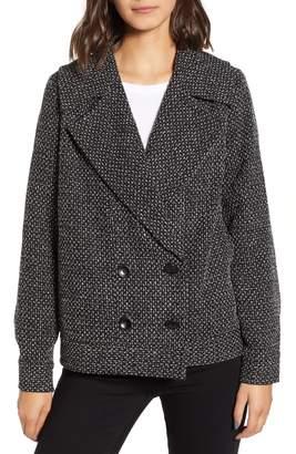 Hinge Crosshatched Wide Lapel Jacket