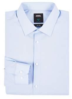 Burton Mens Blue Slim Fit Easy Iron Shirt