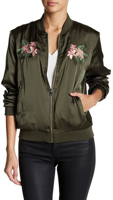 Romeo & Juliet Couture Floral Embroidered Bomber Jacket $175 thestylecure.com