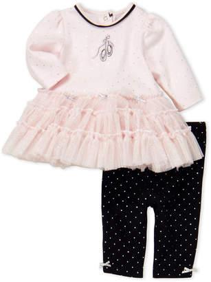 Little Me Newborn/Infant Girls) Two-Piece Dress & Leggings