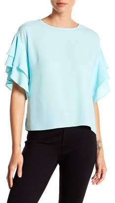 Vince Camuto Drop Shoulder Ruffle Sleeve Blouse (Regular & Petite)