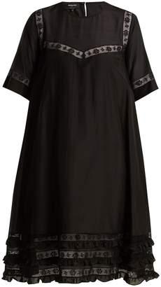 Rochas Lace-trimmed cotton-voile dress