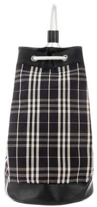 Burberry Oversized Plaid Drawstring Bag