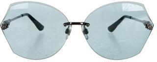 Swarovski Aqua Oversize Sunglasses $125 thestylecure.com